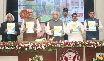 राज्यपाल श्री लालजी टंडन ने राजीव गाँधी प्रौद्योगिकी विश्वविद्यालय के 21वें स्थापना दिवस एवं शिक्षक दिवस के अवसर पर स्मारिका का विमोचन किया।