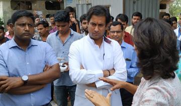 नगरीय विकास एवं आवास मंत्री श्री जयवर्द्धन सिंह ने भानपुर खंती में जैविक उपचार खाद संयत्र का अवलोकन किया।