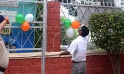 मुख्य निर्वाचन पदाधिकारी श्री वी.एल. कान्ताराव ने निर्वाचन भवन में ध्व ...