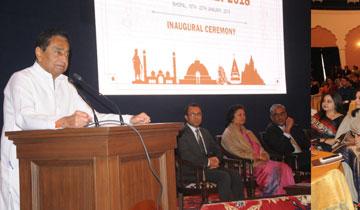 मुख्यमंत्री श्री कमल नाथ ने कन्वेंशन सेंटर में आई.ए.एस. ऑफिर्स मीट को संबोधित किया।  #$55182