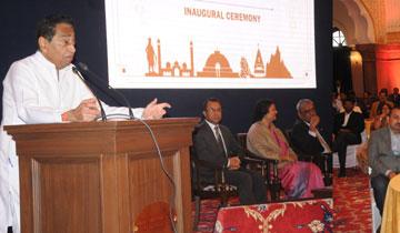 मुख्यमंत्री श्री कमल नाथ ने कन्वेंशन सेंटर में आई.ए.एस. ऑफिर्स मीट को संबोधित किया।  #$55183
