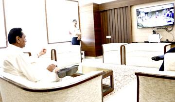 मुख्यमंत्री श्री कमल नाथ ने विधानसभा स्थित कक्ष से वीडियो कान्फ्रेंस के जरिये नीति आयोग द्वारा कृषि के सुधार के लिए गठित मुख्यमंत्रियों की उच्चाधिकार समिति की बैठक में हिस्सा लिया और महत्वपूर्ण सुझाव दिए।