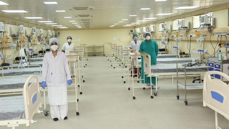 उज्जैन के माधव नगर अस्पताल में कोविड-19 के लिये निर्मित अत्याधुनिक आईसीयू, जिसका लोकार्पण मुख्यमंत्री श्री शिवराज सिंह चौहान ने किया।