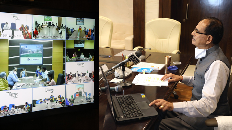 मुख्यमंत्री श्री शिवराज सिंह चौहान ने मध्यान्ह भोजन राशि का रसोईयों एवं बच्चों के खाते में अंतरित की।