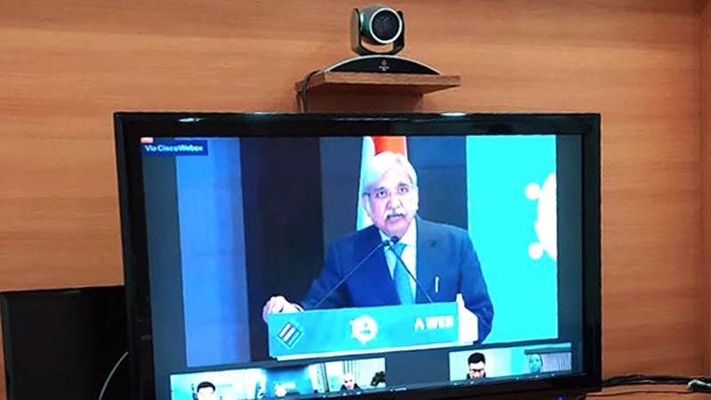 मुख्य निर्वाचन आयुक्त श्री सुनील अरोरा द्वारा ए-वेब के अंतर्राष्ट्रीय वेबिनार का शुभारंभ किया गया।