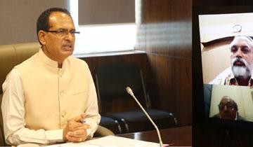 मुख्यमंत्री श्री शिवराज सिंह चौहान ने मंत्रालय में वीडियो कॉन्फ्रेसिंग के माध्यम से इण्डियन मेडिकल एसोसिएशन के सदस्यों से कोविड-19 संक्रमण की रोकथाम संबंधी विचार-विमर्श किया।