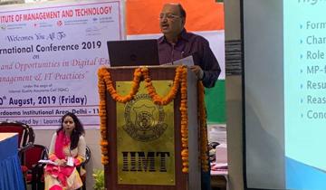 रेरा अध्यक्ष श्री अन्टोनी डिसा ने नई दिल्ली में आई.आई.एम.टी.के अन्तर्राष्ट्रीय सम्मेलन में मध्यप्रदेश में रेरा एक्ट के क्रियान्वयन में आईटी के उपयोग पर प्रेजेन्टेशन दिया।